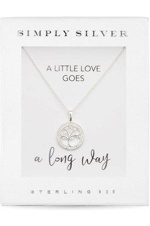 Simply Silver Sterling Silver Cubic Zirconia Tree Of Life Necklace
