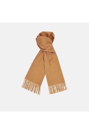 Turnbull & Asser Monogrammed Sand Pure Cashmere Scarf