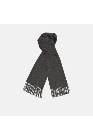 Turnbull & Asser Monogrammed Dark Pure Cashmere Scarf