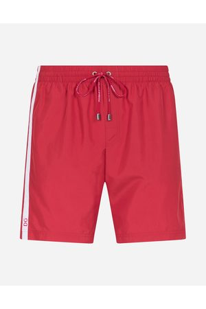 Dolce & Gabbana Beachwear - MID-LENGTH SWIM TRUNKS WITH BRANDED SIDE BAND male 3