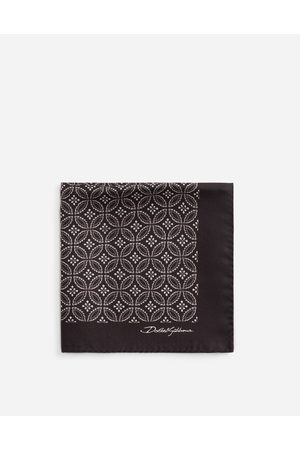 Dolce & Gabbana Ties and Pocket Squares - SILK POCKET SQUARE WITH TIE PRINT male OneSize