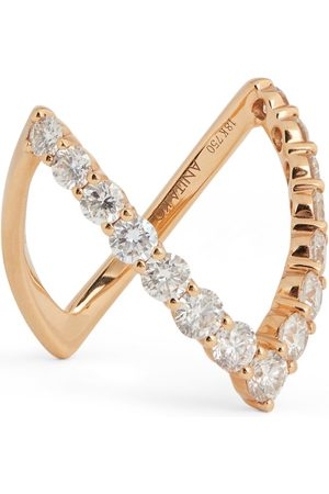 Anita Rose Gold Diamond V Ring