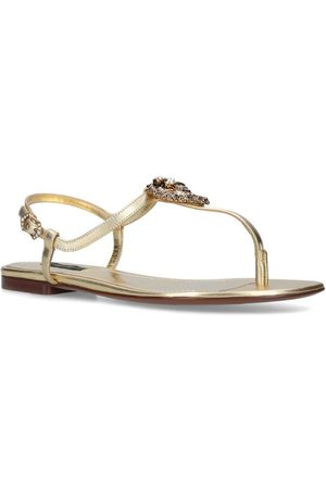 Dolce & Gabbana Leather Devotion Heart Sandal