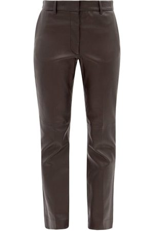 Joseph Coleman Leather Straight-leg Trousers - Womens