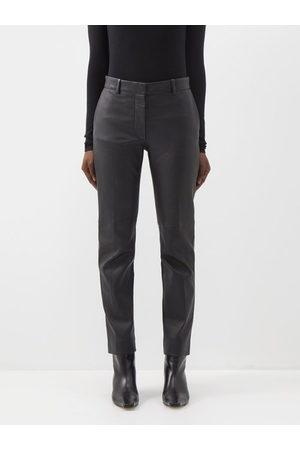 Joseph Coleman Leather Straight-leg Trousers - Womens