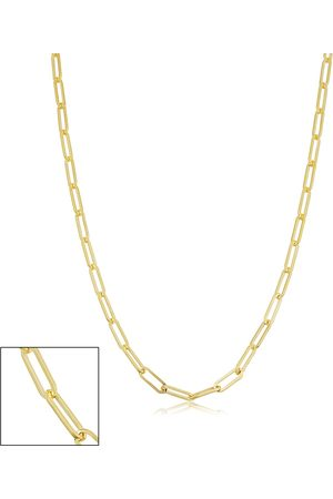 SuperJeweler 14K (4.70 g) 2.5mm Paperclip Chain Necklace, 24 Inches