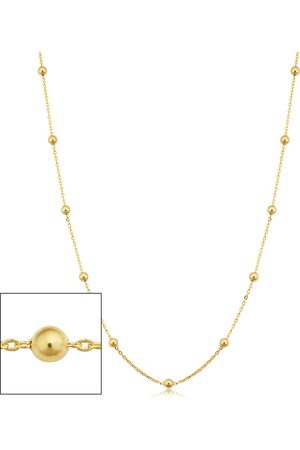 SuperJeweler 14K (3.90 g) 3mm Ball Chain Necklace, 30 Inches