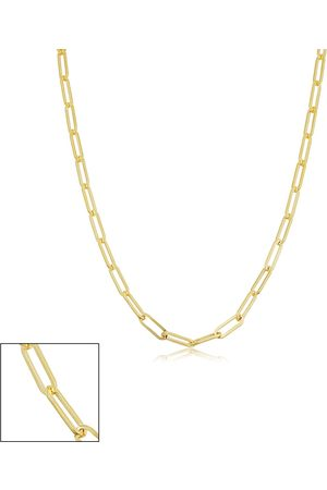SuperJeweler 14K (3.25 g) 2.5mm Paperclip Chain Necklace, 16 Inches