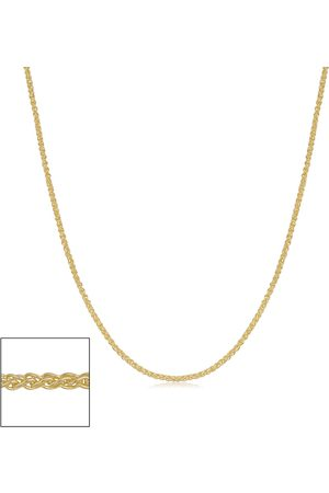 SuperJeweler 14K (1.25 g) 0.8mm Round Wheat Chain Necklace, 20 Inches