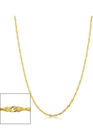 SuperJeweler 14K (2.75 g) 1.7mm Singapore Chain Necklace, 24 Inches