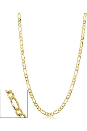 SuperJeweler 14K (10.60 g) 3.3mm Figaro Chain Necklace, 30 Inches