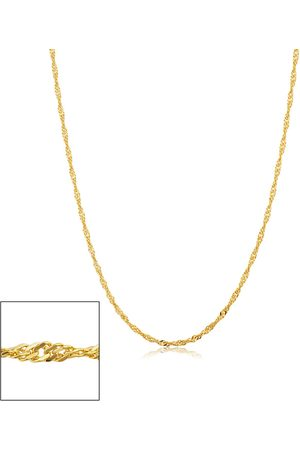 SuperJeweler 14K (2.15 g) 1.7mm Singapore Chain Necklace, 18 Inches