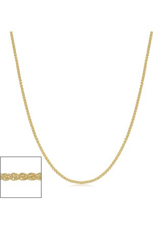 SuperJeweler 14K (1.45 g) 0.8mm Round Wheat Chain Necklace, 24 Inches