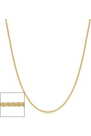 SuperJeweler 14K (1.65 g) 0.8mm Round Wheat Chain Necklace, 30 Inches