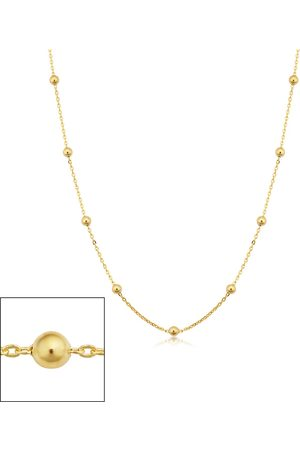 SuperJeweler 14K (2.20 g) 3mm Ball Chain Necklace, 16 Inches