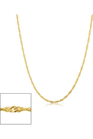 SuperJeweler 14K (1.95 g) 1.7mm Singapore Chain Necklace, 16 Inches