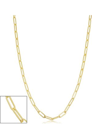 SuperJeweler 14K (6.95 g) 2.5mm Paperclip Chain Necklace, 36 Inches
