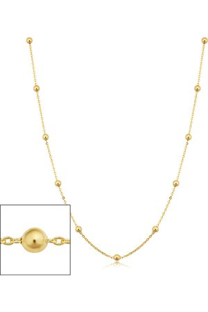 SuperJeweler 14K (3.20 g) 3mm Ball Chain Necklace, 24 Inches