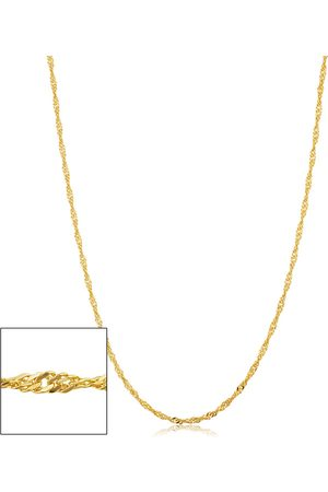 SuperJeweler 14K (3.35 g) 1.7mm Singapore Chain Necklace, 30 Inches