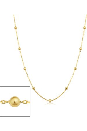 SuperJeweler 14K (2.40 g) 3mm Ball Chain Necklace, 18 Inches