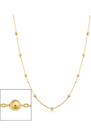 SuperJeweler 14K (2.70 g) 3mm Ball Chain Necklace, 20 Inches