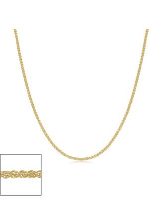 SuperJeweler 14K (1.05 g) 0.8mm Round Wheat Chain Necklace, 16 Inches