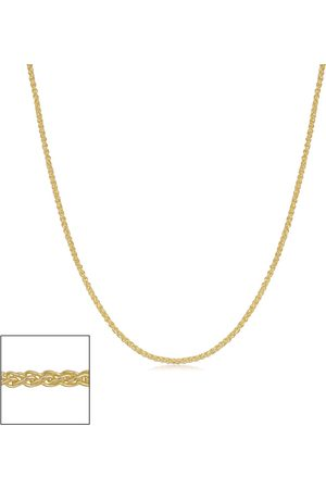 SuperJeweler 14K (1.15 g) 0.8mm Round Wheat Chain Necklace, 18 Inches