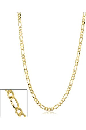 SuperJeweler 14K (8.50 g) 3.3mm Figaro Chain Necklace, 24 Inches