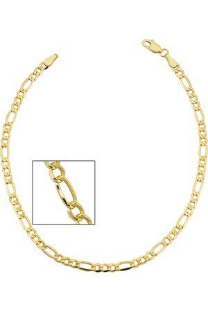 SuperJeweler 14K (3.30 g) 3.3mm Figaro Chain Bracelet, 8.5 Inches