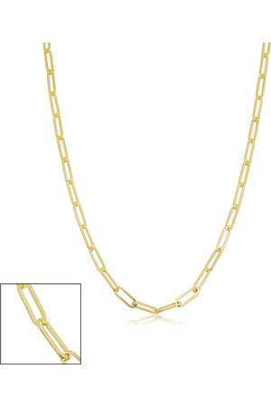 SuperJeweler 14K (4 g) 2.5mm Paperclip Chain Necklace, 20 Inches