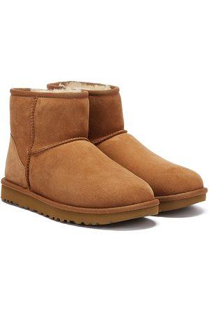 UGG Womens Chestnut Classic Mini II Sheepskin Boots