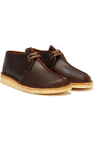 Clarks Men Boots - Desert Trek Leather Mens Beeswax Boots