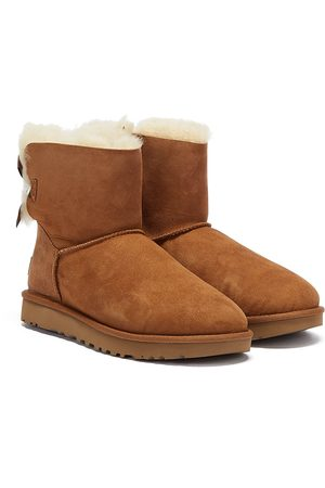 UGG Womens Chestnut Mini Bailey Bow II Boots