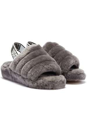 UGG Fluff Yeah Womens Charcoal Slippers