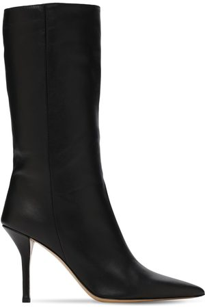 GIA Women Boots - 85mm Mid High Leather Boots