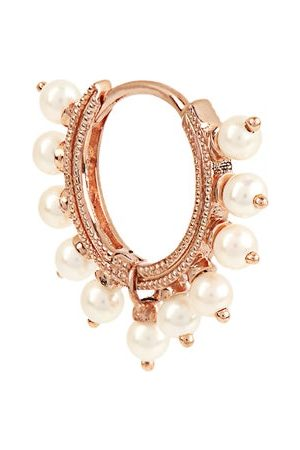 Maria Tash Coronote Eternity Pearl & Rose Single Earring - Womens - Rose