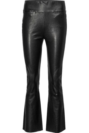 Citizens of Humanity Colette high-rise leather bootcut jeans