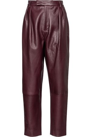 Khaite Magdeline high-rise leather pants