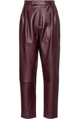 Khaite Magdeline high-rise leather pants