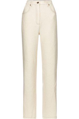 Nanushka Drew high-rise straight wool pants