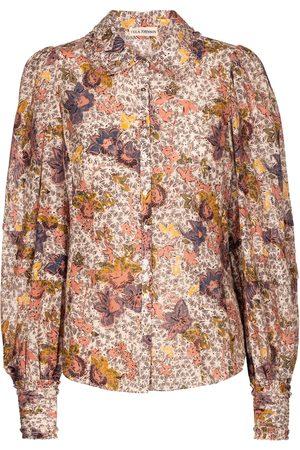 ULLA JOHNSON Circe floral cotton-blend blouse