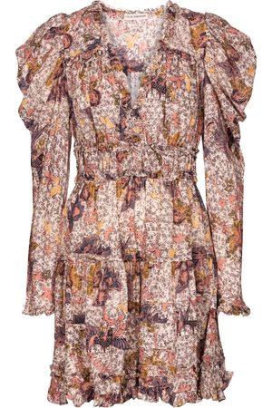 ULLA JOHNSON Julie floral cotton-blend minidress