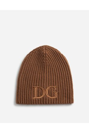 Dolce & Gabbana Hats and Gloves - WOOL HAT WITH DG EMBROIDERY male OneSize