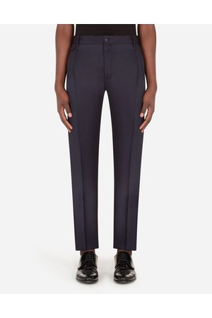 Dolce & Gabbana Trousers and Shorts - WOOL PANTS WITH DARTS male 58