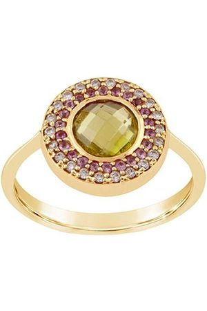 Dinny Hall 14kt yellow diamond Double Halo pinky ring