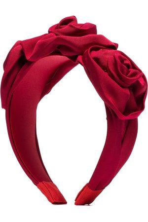 Jennifer Behr Oversized rose appliqué headband