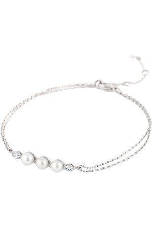 Dinny Hall 14kt white gold diamond pearl bracelet