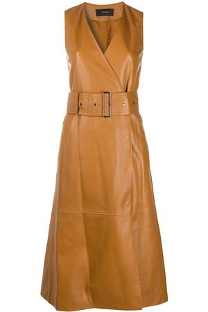 Joseph Women Party Dresses - Leather belted wrap dress