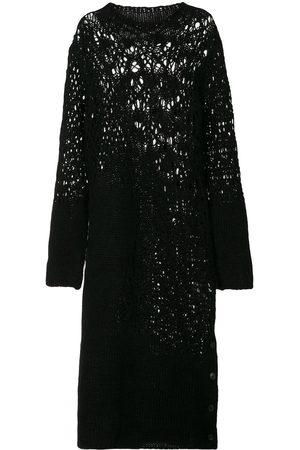 YOHJI YAMAMOTO Open-knit midi dress