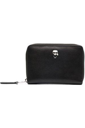 Karl Lagerfeld Zip-up leather wallet